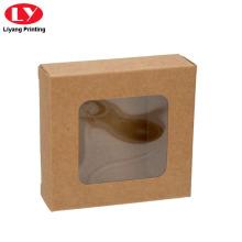 Cheap Kraft Paper Box with Clear PVC Window