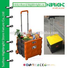 wheeled shopping plastic foldable cart