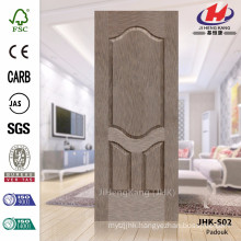 JHK-S02 High Quality Best Sale HDF Asia Widely Used Certificate Padauk Vneer Door Sheet