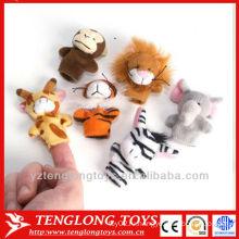 Ребенок IQ игрушки плюшевых животных палец кукла