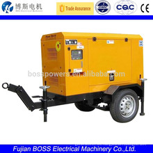 Generador diesel portátil con motor Yanmar 11KW silenciado Genset