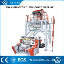 Máquina de sopro de filme de três camadas de alta velocidade ABA