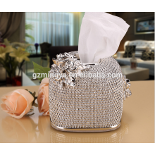 Bijouterie décorée boîte de tissu de luxe maison utilisée élégante résine artisanat artisanat boîte à tissus