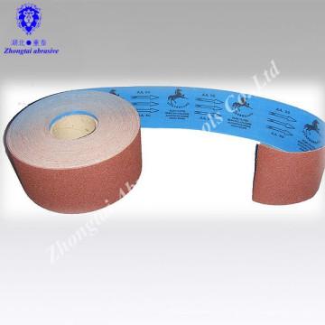 Main de marque de cheval de 100mm * 50m utilisent le rouleau de tissu abrasif doux