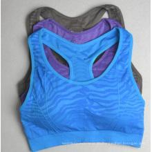 Nahtlose Jacquard Girls halblange Tennis Sportswear