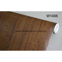 Venta al por mayor autoadhesivo de madera de grano de vinilo película de PVC de grano de madera de cine