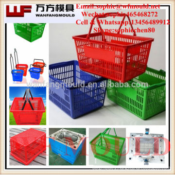 2017 hot new products plastic injection shopping basket mould with high quality
