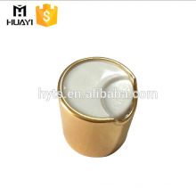 20/410 24/410 silver aluminum cosmetic disc top cap for shampoo