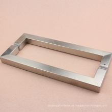 Conjunto de manija de puerta de vidrio de satén de acero inoxidable de alta calidad 304 para casa commerical o recidente