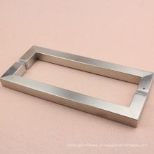 Poignée de porte en verre en acier Stainelss de haute qualité design carré