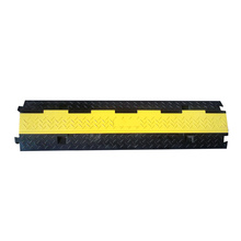 2 channels rubber cable protector speed ramp