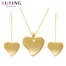 S-411 Xuping joyas al por mayor goldenes 2-Gramm-Gold-Collierset + Dubai-Goldschmuck-Designs, Frauenset