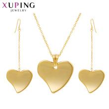 S-411 Xuping joyas al maire doré 2 grammes ensemble de collier en or + dubaï conçoit des bijoux en or ensemble de femmes