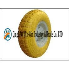 4.00-6 roue non-pneumatique de chariot d'outil d'unité centrale avec la couleur de rayon