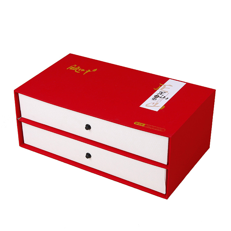 paper gift box with two drawers