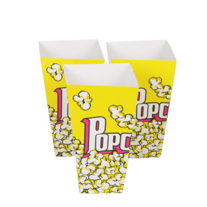 Custom Square Snack Fast Food Popcorn Paper Box