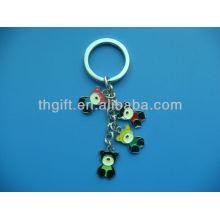 Le porte-clés / porte-clés en métal Cute Bear