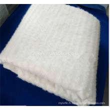Nappe de soie de mûre non tissée à liaison thermique / en coton pour quilting de soie