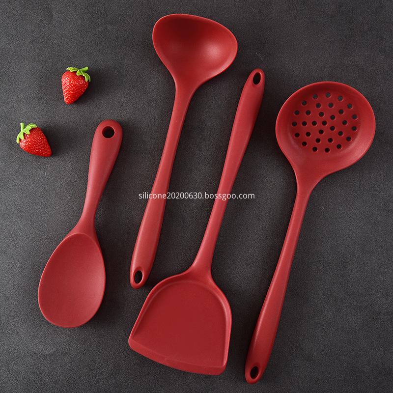 red silicone spatula set