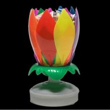 Plastic Flower Shape Musical Birthday Candle