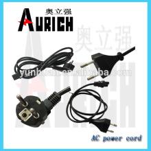 Alimentation électrique UL 3 goupille PVC câbles d'alimentation cordon avec Sasoplug 125V