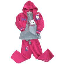 Hoodies da camisola do algodão da forma do lazer na roupa das crianças para ternos Swg-109 do esporte