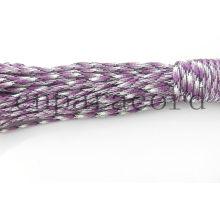 Poliéster de cabo de pára-quedas roxo camo 550 100ft