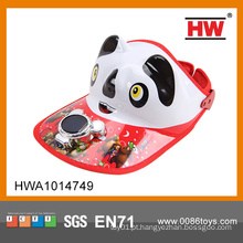 Ventilador solar do tampão da panda do tampão do ventilador solar da venda quente