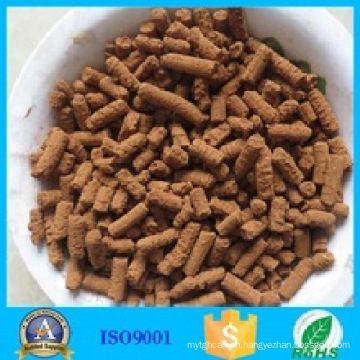 Iron oxide mill feed gas desulfurizer