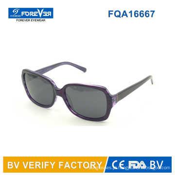 Forma quadrada senhoras estilo acetato óculos de sol Acchiali Da sola comprar da China