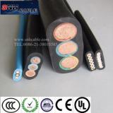 Round / Flat PVC / Rubber submersible pump power cable 3 core / 4 core