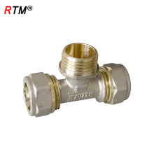 L 17 4 8 brass compression tee high quality tee brass press fitting