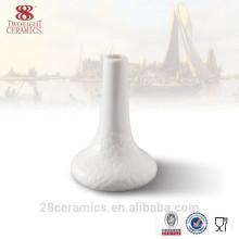 Ensemble de dîner de vente chaude, vase en porcelaine blanche, vase de fleur de porcelaine d'os