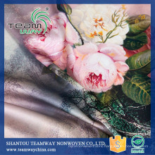 High Quality Custom Printed 100% Polyester Satin Fabric Wholesale