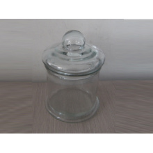 Transparent Glass Candle Jar (A-1020)