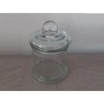 Прозрачная стеклянная свечная банка (A-1020)