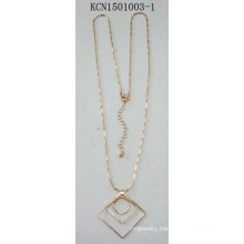 Silver Necklace with Triangular Square Pendant