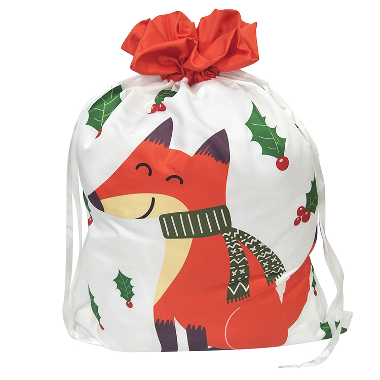 Christmas Orange Fox Pattern Sack
