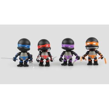 Mini Customized Teenage Action Figur Mutant PVC Ninja Schildkröten Spielzeug