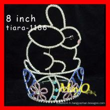 Cute Rabbit halloween halloween couronne, Chine usine de bijoux grandes couronnes concours, cristal mariage tiare