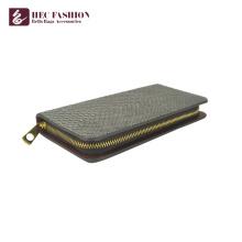 HEC Custom New Design de Moda de Luxo Mulheres Titular do Cartão PU Bolsas Grande Capacidade Das Senhoras Embreagem Carteira Com Zíper De Metal