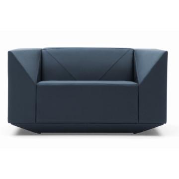 Forma diamante luxo novo sofá de couro moderno