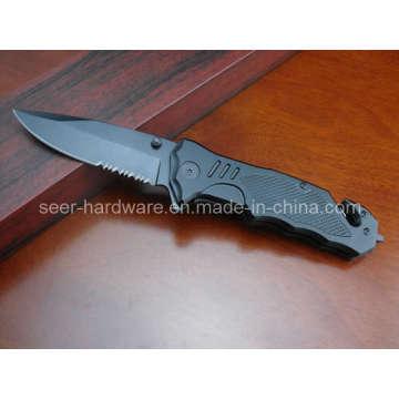 """8.2"""" Black Coated Folding Knife (SE-052)"""