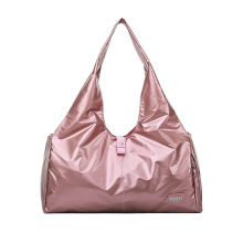 New ladies outdoor handle bag  pink duffel bag large capacity women overnight tote bag with shoe pocket