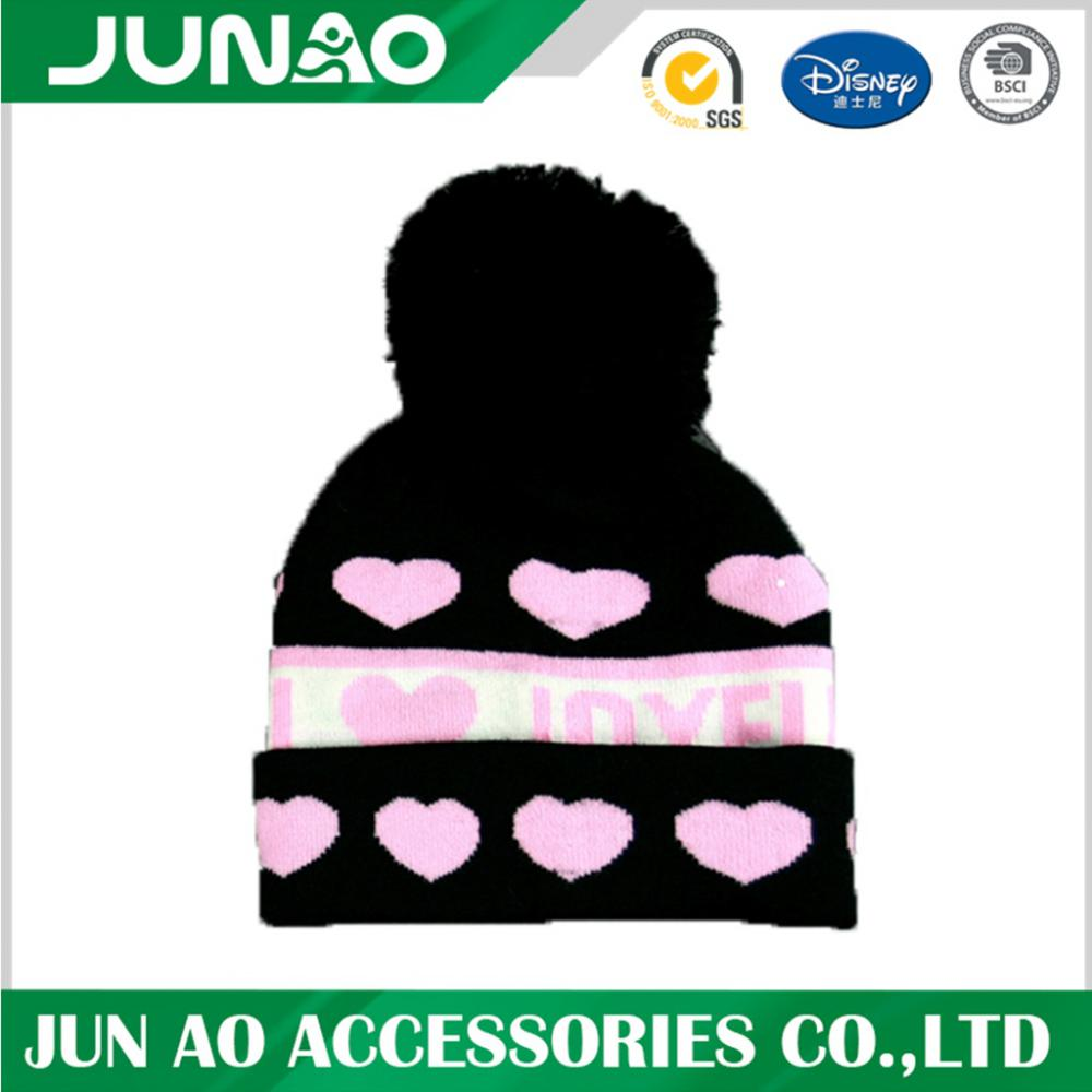 Acrylic Winter Jacquard Knitted Beanie Hat