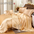 Hotel design bedding sets / luxury south africa satin tencel silk touch beige bedding