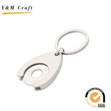 Spezielles Design abnehmbarer Schlüsselanhänger aus Metall mit einem Loch