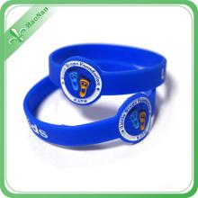 Cheap Custom Logo Silicone Bracelet, Promotional Printed Silicone Wristband