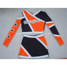 Trajes de Cheerleading 2016: Top y falda de manga larga