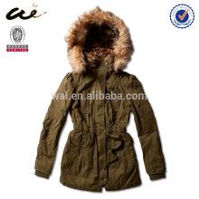 2015 fur winter coat woman jacket;warm jacket;padded jacket;military jacket